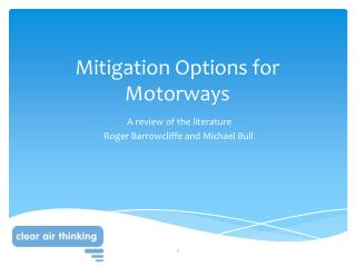 Mitigation Options for Motorways
