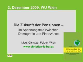 Die Zukunft der Pensionen – im Spannungsfeld zwischen Demografie und Finanzkrise