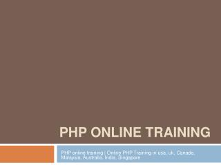 PHP online training | Online PHP Training in usa, uk, Canada