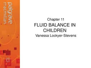 FLUID BALANCE IN CHILDREN