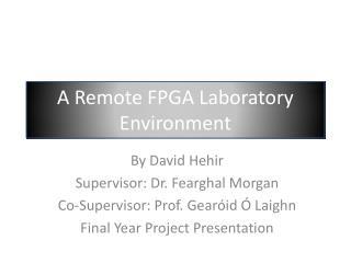 A Remote FPGA Laboratory Environment
