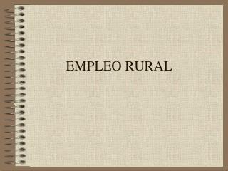 EMPLEO RURAL