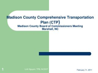 Comprehensive Transportation Plan (CTP): What is it?