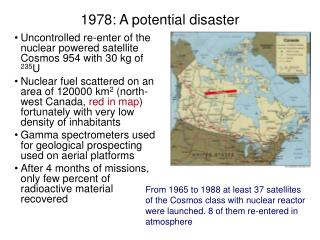 1978: A potential disaster