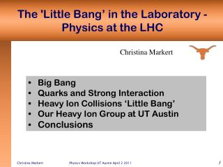 The 'Little Bang' in the Laboratory - Physics at the LHC