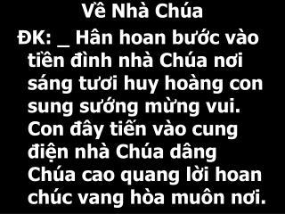V? Nh� Ch�a