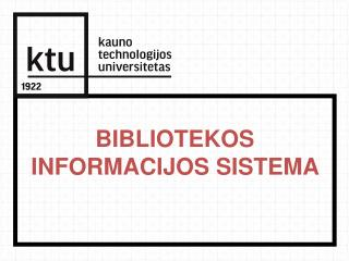 Bibliotekos informacijos sistema