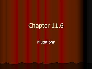 Chapter 11.6