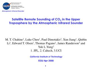Satellite Remote Sounding of CO 2  in the Upper Troposphere by the Atmospheric Infrared Sounder