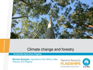 Climate change and forestry