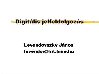 Digitális jelfeldolgozás
