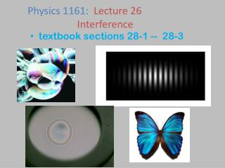 textbook sections 28-1 --  28-3