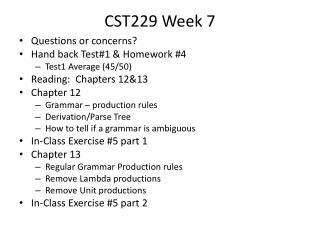 CST229 Week  7