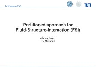 Partitioned approach for  Fluid-Structure-Interaction (FSI)