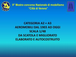 CATEGORIA A2 + A3  AEROMOBILI DAL 1903 AD OGGI SCALA 1/48  DA SCATOLA E MIGLIORATO