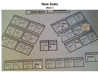 New Seats  Block 1