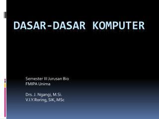 DASAR-DASAR KOMPUTER