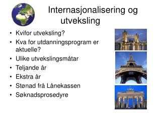 Internasjonalisering og utveksling