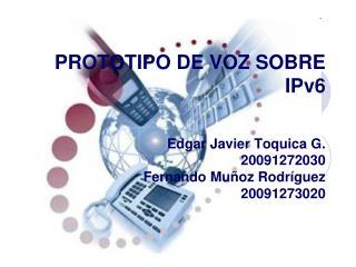 PROTOTIPO DE VOZ SOBRE IPv6