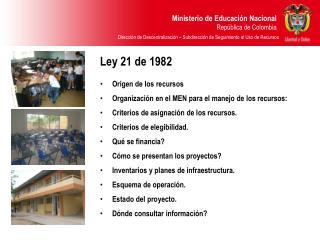 Ley 21 de 1982