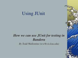 Using JUnit