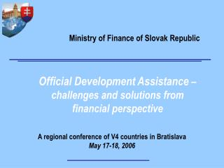 Official Development Assistance  – challenges and solutions from financial perspective