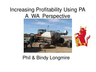 Increasing Profitability Using PA A  WA  Perspective