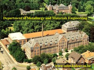 Department of Metallurgy and Materials Engineering