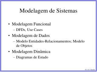Modelagem de Sistemas