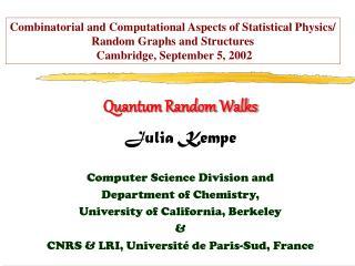 Quantum Random Walks