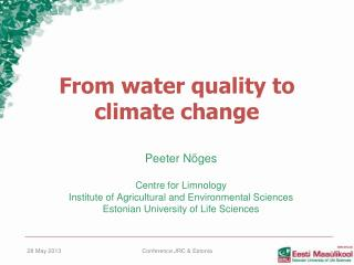 From water quality to climate change