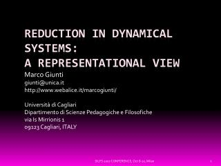 Reduction in Dynamical Systems: A Representational View