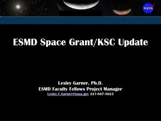 ESMD Space Grant Update