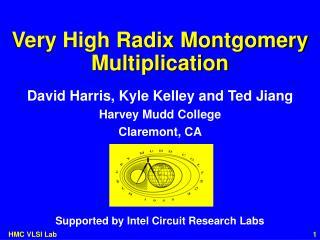 Very High Radix Montgomery Multiplication