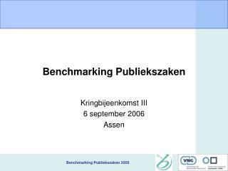 Benchmarking Publiekszaken