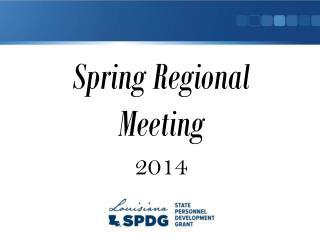 Spring Regional Meeting