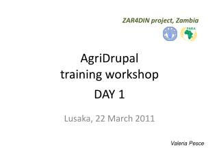 AgriDrupal  training workshop DAY 1