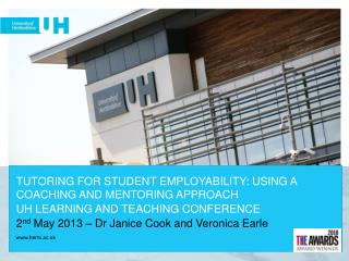 TUTORING FOR STUDENT EMPLOYABILITY: USING A  COACHING AND MENTORING APPROACH