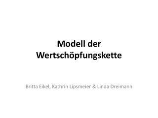 Modell der Wertschöpfungskette