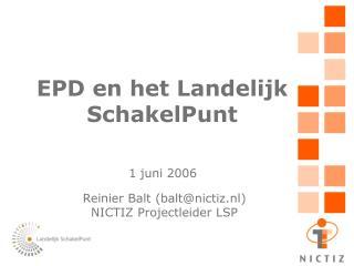 EPD en het Landelijk SchakelPunt