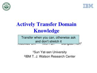 Actively Transfer Domain Knowledge