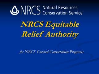 NRCS Equitable Relief Authority