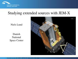 Studying extended sources with JEM-X