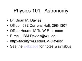 Physics 101   Astronomy