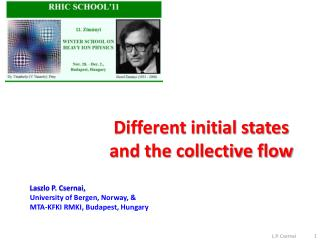 Different initial states and the collective flow