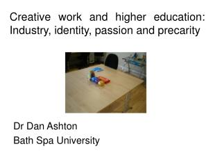 Creative work and higher education: Industry, identity, passion and precarity