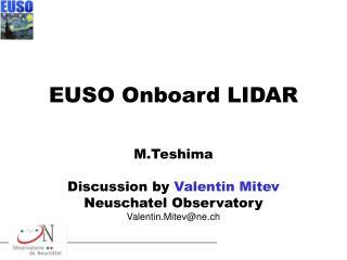 EUSO Onboard LIDAR
