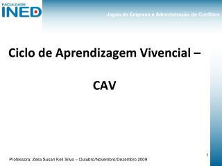Ciclo de Aprendizagem Vivencial – CAV