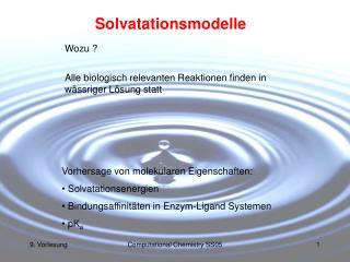 Solvatationsmodelle