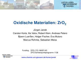 Oxidische Materialien: ZrO 2